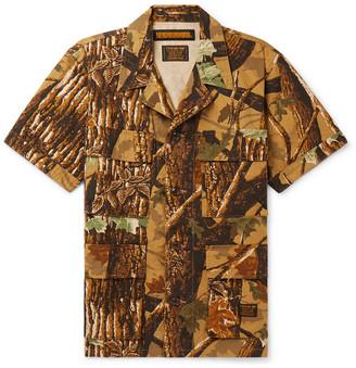 Neighborhood Camp-Collar Printed Cotton-Ripstop Shirt