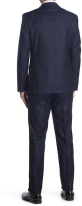 Calvin Klein Navy Solid Two Button Notch Lapel Slim Fit Suit
