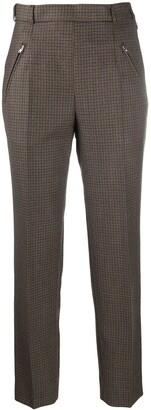Maison Margiela High-Waisted Check Trousers