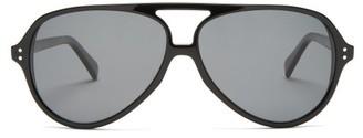Celine Acetate Aviator Sunglasses - Black