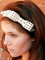 Jennifer Behr patent stud bow headband