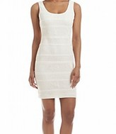 GUESS White Ivory Knit Crochet Lace Women's Size 10 Sheath Dress