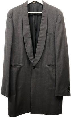 Comme des Garcons Brown Wool Coats