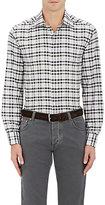 Luciano Barbera Men's Plaid Cotton Dress Shirt