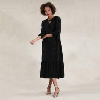 The White Company Boho Sparkle Midi Dress, Black, 12