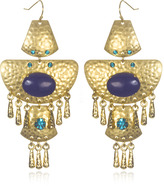 Cleopatra Statement Earrings, Turquoise/Lapis