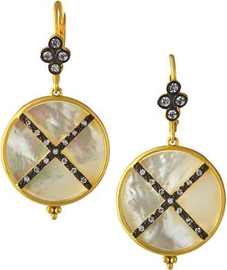 Freida Rothman Imperial Mother-of-Pearl Drop Earrings