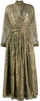 A.N.G.E.L.O. Vintage Cult 1980s Sequinned Blouse And Skirt Set