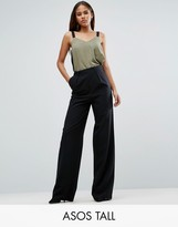 ASOS Tall ASOS TALL Wide Leg Pants with Pleat Detail