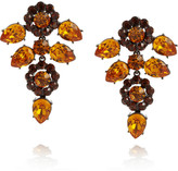 Roberto Cavalli Ruthenium-plated Swarovski crystal clip earrings