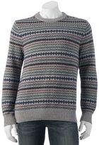 Croft & Barrow Men's Classic-Fit Fairisle 7GG Crewneck Sweater