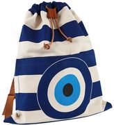 "Atozgreek Lightweight Canvas Backpack ""The Evil Eye"""