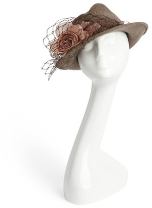 Nerida Fraiman Rose Trilby Hat