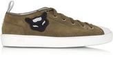 N°21 Military Velour Men's Sneaker w/Rubber Sole