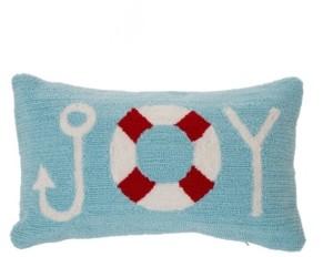 "Glitzhome 20"" L Joy Hooked Pillow"
