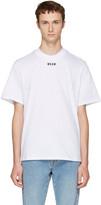 MSGM White New Logo T-shirt