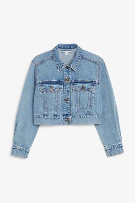 Monki Cropped denim jacket