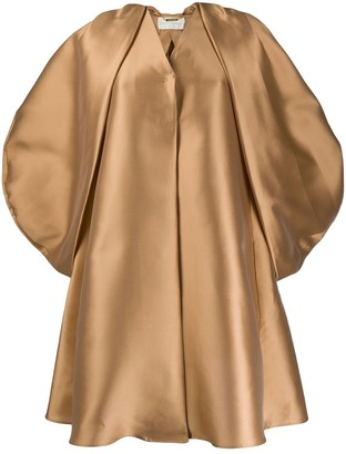 Alberta Ferretti Metallic Oversized Coat