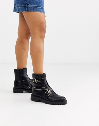 Pimkie studded boots in black