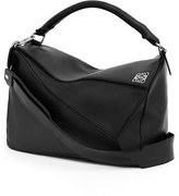 Loewe 'Large Puzzle' Calfskin Leather Bag - Black