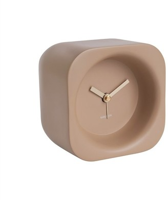 Karlsson Chunky Poly Resin Alarm Clock - Sand Brown