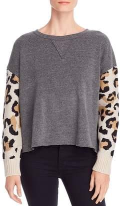 Vintage Havana Fleece & Leopard Jacquard Sweatshirt