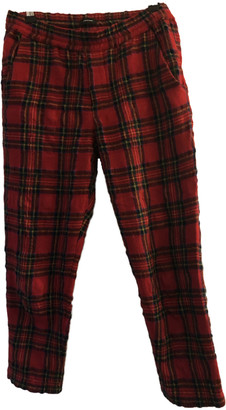 R 13 Red Wool Trousers