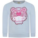 Kenzo KidsGirls Pale Blue Tiger Sweater