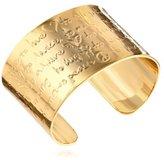 "Mercedes Salazar PALABRAS"" Gold-Tone Engraved Words Cuff Bracelet, 6"""