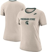 Nike Women's Heathered Gray Michigan State Spartans Ringer Performance T-Shirt