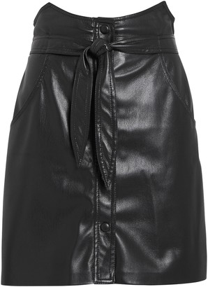 Nanushka Chai Vegan Leather Mini Skirt