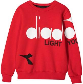 Diadora Red Teen Sweatshirt