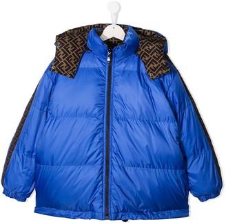 Fendi Kids TEEN reversible FF padded coat