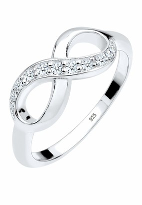 Diamore Women's 925 Sterling Silver 0.18 ct White Diamond Infinity Ring