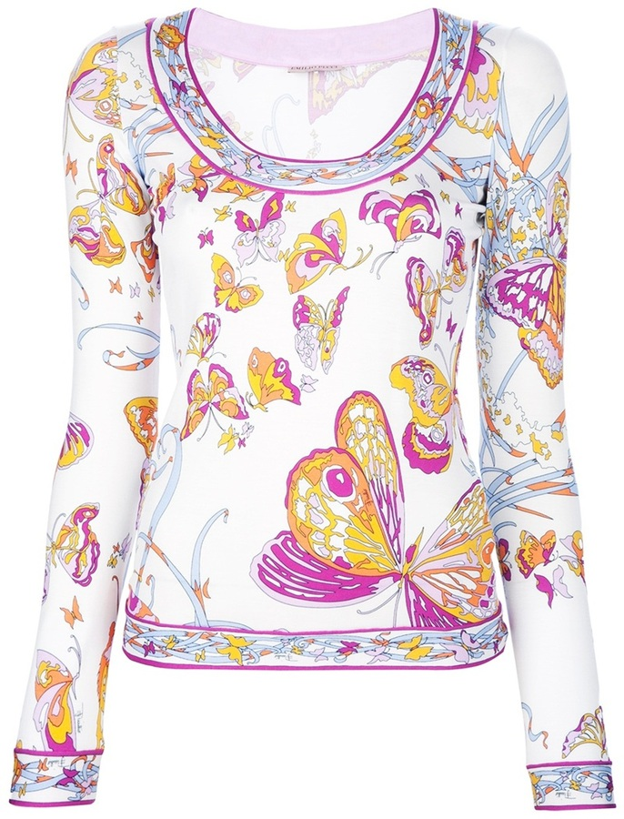 Emilio Pucci butterfly print sweater