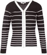 Morgan Zipped Striped Cardigan