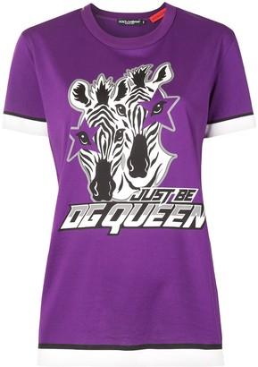 Dolce & Gabbana Queen print T-shirt