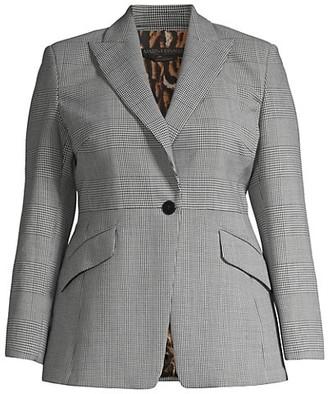 Marina Rinaldi, Plus Size Casanova Double Wool Stretch Blazer