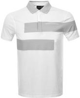 Armani Exchange Colour Block Polo T Shirt White