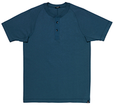 Denham Roy Henley Short Sleeve T-shirt, Blue