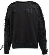 Juun.J lace-up sleeves sweatshirt - men - Cotton/Polyester - 52