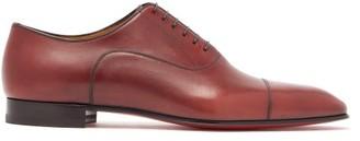 Christian Louboutin Greggo Leather Oxford Shoes - Mens - Burgundy