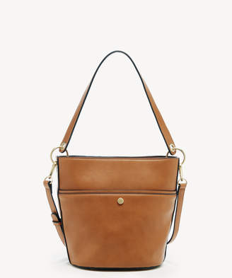 Sole Society Women's Colia Bucket Bag Faux Leather Shoulder Cognac From