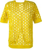Marni perforated knit top - women - Cotton - 42