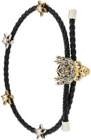 Alexander McQueen king skull braided bracelet
