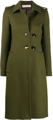 Marni Knitted Single-Breasted Coat