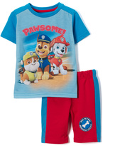 Children's Apparel Network PAW Patrol Blue Tee & Red Shorts - Toddler & Boys