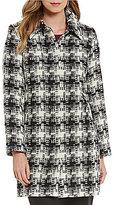 Pendleton Doreen Spread Collar Check Plaid Jacquard Wool Coat