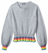 Wyse - Gail Rainbow Ruffle Hem Jumper - 1 (UK 8-10)
