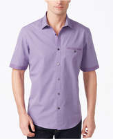 Alfani BLACK Men's Blair Textured Micro-Stripe Cotton Shirt, Created for Macy's